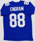Evan Engram Autographed Blue Pro Style Jersey- JSA Authenticated