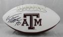 Von Miller Autographed Texas A&M Aggies Logo Football- JSA Witnessed Auth *Left