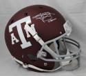 Johnny Manziel Heisman Signed *W Texas A&M F/S Maroon Schutt Helmet- JSA W Auth