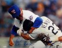 Nolan Ryan Signed Rangers 16x20 Fighting Ventura Photo W/ Inscription- JSA Auth