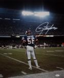 Lawrence Taylor Signed NY Giants 16x20 Standing On Field Photo- JSA W Auth *W