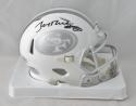 Jerry Rice Autographed San Francisco 49ers ICE Speed Mini Helmet- Beckett Auth