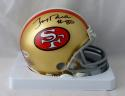 Jerry Rice #80 Autographed San Francisco 49ers Mini Helmet- Beckett Authenticated
