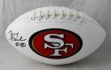 Jerry Rice #80 Autographed San Francisco 49ers Logo Football- Beckett Authenticated