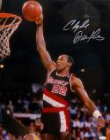 Clyde Drexler Autographed Portland Trail Blazers 16x20 Dunking Photo- JSA W Auth