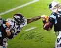 Von Miller Autographed Denver Broncos 16x20 Strip Sack PF Photo- JSA W Auth