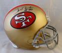 Jerry Rice #80 Autographed San Francisco 49ers F/S 64-95 TB Helmet- Beckett Auth