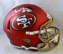 Jerry Rice #80 Signed San Francisco 49ers F/S Blaze Helmet- Beckett Auth *SILVER