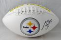 Maurkice Pouncey Autographed Pittsburgh Steelers Logo Football- JSA W Auth