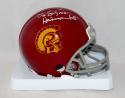 O. J. Simpson Autographed USC Trojans Mini Helmet W/ Heisman- JSA W Auth *White