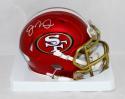 Joe Montana Autographed San Francisco 49ers Blaze Mini Helmet- JSA W Auth *Silver