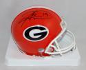 HInes Ward Signed Georgia Bulldogs Red Riddell Mini Helmet JSA W Auth *BLK*