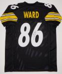 Hines Ward Autographed Black Pro Style Jersey- JSA Witness Authenticated