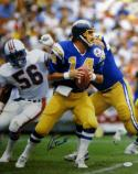 Dan Fouts Autographed San Diego Chargers 16x20 Photo Looking to Pass JSA W Authenticated