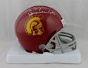 O. J. Simpson Autographed USC Trojans Mini Helmet W/ Heisman- JSA W Auth *Silver