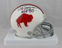 O. J. Simpson Autographed Buffalo Bills 65-73 TB Mini Helmet W/ HOF- JSA W Auth