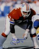 John Hannah Autographed 8x10 New England Patriots Photo w/ HOF - SGC Auth