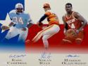 Earl Campbell Nolan Ryan Olajuwon Signed 16x20 Houston Legends Photo- JSA W Auth *Blue