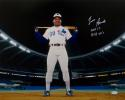 Tim Raines Autographed Expos 16x20 On Field w/ Inscriptions  Photo- JSA W Auth