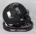 Andre Johnson Signed Miami Hurricanes Black Schutt Mini Helmet JSA W Auth *Silver