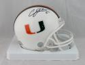 Andre Johnson Signed Miami Hurricanes Riddell Mini Helmet JSA W Auth *Black