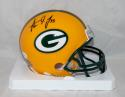 Aaron Jones Autographed Green Bay Packers Mini Helmet- JSA W Authenticated *Blk