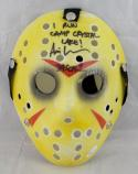 Ari Lehman Signed Friday The 13th Yellow Jason Mask W/ I Run Crystal Lake JSA Auth