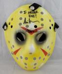 Ari Lehman Signed Friday The 13th Yellow Jason Mask W/ I Never Die- JSA Auth