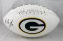 Aaron Jones Autographed Green Bay Packers Logo Football- JSA W Authenticated