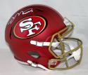 Joe Montana Autographed San Francisco 49ers F/S BLAZE Helmet- JSA W Auth *White