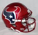 Andre Johnson Autographed Houston Texans F/S BLAZE Helmet- JSA W Auth *Silver