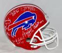 Buffalo Bill Hall of Famers Autographed Full Size TB Helmet- JSA Witnessed Auth