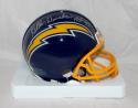 Kellen Winslow Autographed San Diego Chargers 74-95 Mini Helmet HOF- JSA W Auth