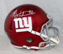 Michael Strahan Autographed New York Giants Blaze Full Size Helmet JSA W Auth *White