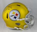 Jack Lambert Autographed Full Size Pittsburgh Steelers Blaze Helmet - JSA W Auth