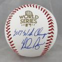 Nolan Ryan Autographed 2017 World Series Baseball w/ WS Champs- JSA Auth