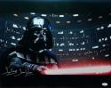 David Prowse Darth Vader Signed Star Wars 16x20 Light Saber Photo- JSA Auth *Silver