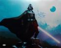 David Prowse Darth Vader Signed Star Wars 16x20 Standing On Rock Photo- JSA Auth *Blue