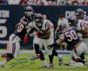 Lamar Miller Signed Houston Texans 8x10 Against Bears Photo- JSA W Auth  *Blue