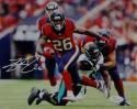 Lamar Miller Signed Houston Texans 8x10 Battle Red Jersey Photo- JSA W Auth *White