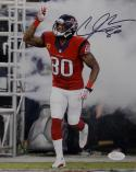 Andre Johnson Signed Houston Texans 8x10 Battle Red Photo- JSA W Auth *Black
