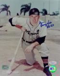 George Kell Autographed Detroit Tigers 8x10 Kneeling Photo W/ HOF- JSA Auth *Blue