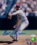 Bert Blyleven Autographed Minnesota Twins 8x10 Pitching Photo- JSA W Auth *Blue