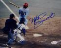 Mike Schmidt Autographed Philadelphia Phillies 8x10 Hitting Photo- JSA Auth *Blue