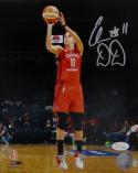 Elena Delle Donne Autographed Mystics 8x10 Shooting PF Photo- JSA W Auth *Silver