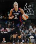 Elena Delle Donne Autographed Mystics 8x10 On Court PF Photo- JSA W Auth *Silver