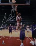 Scottie Pippen Autographed Chicago Bulls 8x10 Dunking Photo- JSA Auth *Silver