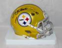 Jack Lambert Autographed Steelers Blaze Mini Helmet W/ HOF- JSA W Auth *Black