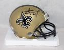 Alvin Kamara Autographed New Orleans Saints Mini Helmet- JSA Witnessed Auth