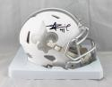 Alvin Kamara Autographed New Orleans Saints Ice Mini Helmet- JSA Witnessed Auth